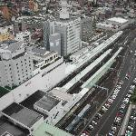 霞城セントラル 展望フロアから見る山形駅