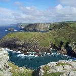 Just one beautiful view from Tintagel Castle, Cornwall. Sept 2010