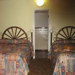 Our Wigwam w/wagon wheel beds