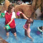 Fun in the kiddies pool