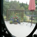 View from kitchen to deck