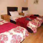 Triple twin beds, very spacious room