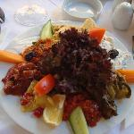 Meze plate at Amedros