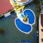 Pools and Sunbathing area