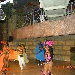 The Brazilian samba dancers in the disco