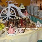 volcano cake creation in hotel restaurant