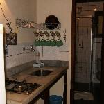kitchenette and bathroom