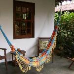 our bungalow's front porch hammock
