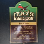 Mo's Irish Pub Sign July 2010