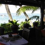Blick vom Restaurant zur Bucht