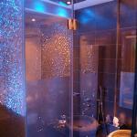 Shower/bathroom area