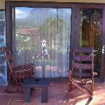Rocking Chairs outside each room