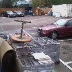 HoJo's Kelowna, Canada junk yard looking east