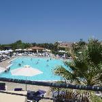 Vista piscina dalla terrazza del ristorante