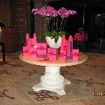 Center table celebrating the Moon Cake festival
