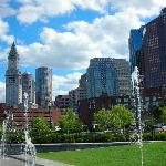view of Boston from Kennedy gardern