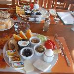 Turkish breakfast, served on the terrace.