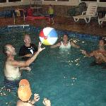 "Pool provided a great place for the ""Wedding Plunge"""