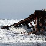 Peter Iredale shipwreck - high tide
