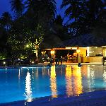 Pavillion Pool by night