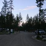 Night falls at the campground - eerily quiet!