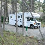 Our RV site - full hook up and spacious!