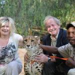 Both of us with Jordan the cheetah