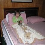 Grand daughter chilling in the room