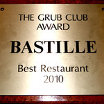 WINNER! Best Restaurant 2010 (Grub Club)