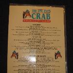 Menu for One Eyed Crab
