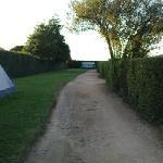 Rozel Campsite, en route to enlosed pitch