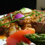 Center Cut Sirloin with South Indian Pepper Sauce