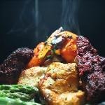 Tandoori Mixed Grill with Four Varities of Kebabs