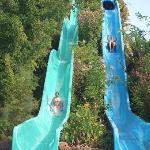 the two tall slides