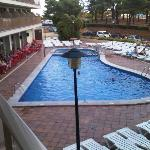 Front swimming pool from Room 130