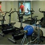 Warm up in our exercise room.