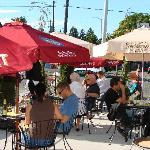 Warm weather outside Patio dining