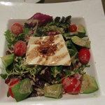 tofu salad with yummy dressing, avocado, tomato