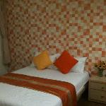 The room with 2 double beds