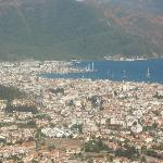 Marmaris from mountains behind resort