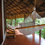 hammock in front of our bungalow