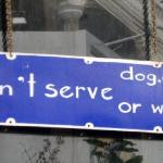 Plenty of quirky signs to spark your interest of what through the door!