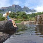 Rock pool & mountain view