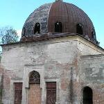 Rundown synagogue in Chernivtsy cemetery