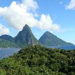 View of the Pitons from JA3