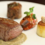 fillet of lmb with fondant potato and confit