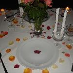 private dinning set up