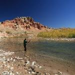 Fishing at the Longhorn Ranch Resort on the Wind River