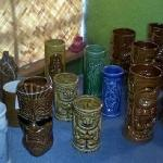 the boutique section's vintage TIKI MUGS!