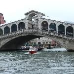 View of the Rialto Bridge from our room